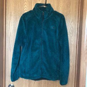 North Face Turquoise zip up fleece